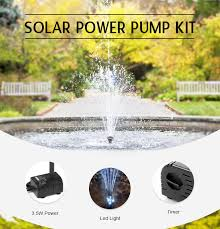 Solar Water Features With Lights