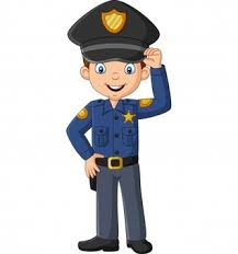 Premium Vector | Cartoon smiling policeman waving hand