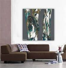 extra large wall art canvas very large artwork large art print tree art gray teal blue landscape artwork living room art dining room art  on large canvas wall art trees with extra large canvas print wall art woman fireplace decor living