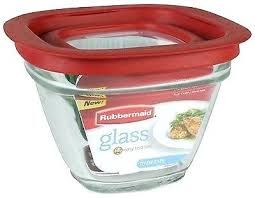 inc food storage container glass cup square stain shield lids premier rubbermaid bpa