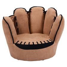 kids sofa baseball glove themed  fingers armrest chair sport