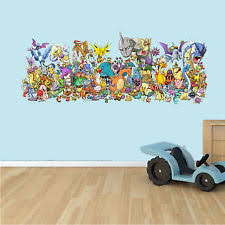 POKEMON GO CHARACTERS WALL ART DECOR STICKER Decal, Mural, Boys Bedroom Logo