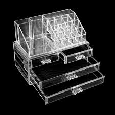 makeup organizer drawers walmart. new outad clear acrylic cosmetic organizer 4 drawers makeup case storage holder box walmart