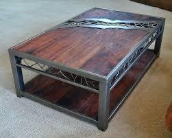 metal wood coffee table rustic wood and metal coffee table nice on round coffee table with metal wood coffee table