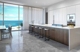 Beach Kitchen Penthouse At Latelier Residences Miami Beach Kitchen Most