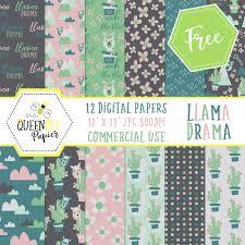 Printable Design Paper Free Digital And Printable Llama Scrapbook Paper Glitter