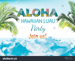 Luau Flyer Aloha Luau Beach Party Vector Flyer Stock Vector Royalty Free