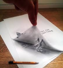 easy 3d paintings on paper 33 of the best 3d pencil drawings bored panda