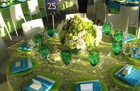 swatches curved around the base of the fl centerpieces that decorated the smaller round tables