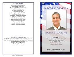 Patriotic Us Funeral Program Template