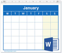 Word 2020 Calendars Free 2020 Word Calendar Blank And Printable Calendar Templates