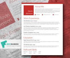 Creative In Red  A Free Elegant CV Template
