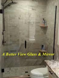 frameless glass shower door and glass shower panel