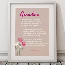 Mothers Day Quotes Gorgeous I Love Walking With Grandma Canvas Art Or Unframed Print Great