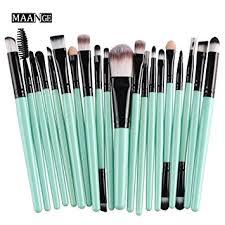 cinidy 20 pcs makeup brush set tools make up toiletry kit wool make up brush