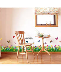 Small Picture StickersKart Walking In The Garden Flower Border Design Wall Decor