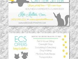 Pet Sitter Business Cards Singular Pet Sitting Business Cards Buzzines Templates Card Examples