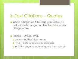 Citation Apa Format Apa Format In Text Citations Title Page Abstract Ppt
