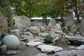 Known as one of Japan's Places of Scenic Beauty, the garden at Taisan-ji  has a number of large rocks and boulders. Perhaps intended to represent the  bottom ...