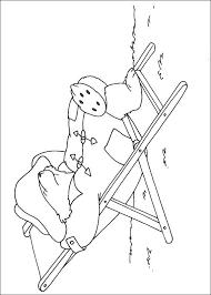 Slapen In Een Strandstoel Kleurplaat Jouwkleurplaten