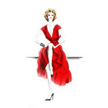 Fashion Illustration Red Dress Ams Studio Of Illustration