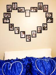 DIY wall heart picture collage \u003c3 - $12 for all picture frames ...