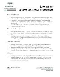 Sample Resumes Examples Beauteous Samples Of Objectives For A Resume Job Objectives For Resumes