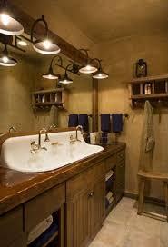 Bathroom Vanity Diy Rustic Pine Bathroom Vanities Brown Marble Tiles Floor Wine Barrel