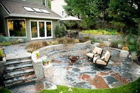 Home Backyard Patio Stones Nomon Club Throughout Design Ideas