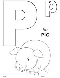 Awesome in addition to Interesting Letter P Coloring Page intended ...