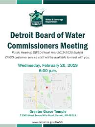 fiscal year 2019 dates public hearing dwsd fiscal year 2019 2020 budget city of detroit