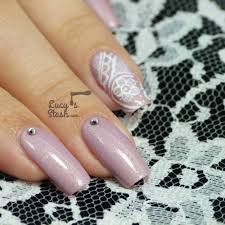 Romantic Freehand Lace Nail Art - Lucy's Stash