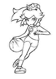 What a beautiful pearl necklace. Princess Peach Playing Basketball Coloring Page Free Printable Coloring Pages For Kids