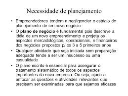 plano de negocios e empreendedorismo