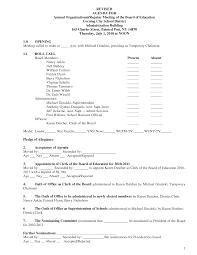 Sample Board Meeting Agenda Board Minutes Sample Cityesporaco 15