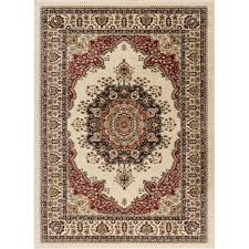 8 x 10 large red and beige area rug sensation rc willey furniture