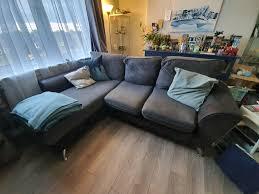 grey corner sofa in stenhouse