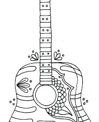 electric guitar coloring page pages to print sheets classical c printable pictures