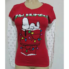 Peanuts - Christmas peanuts Snoopy long sleeve t-shirt sz S from ...