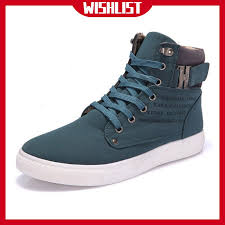 WF <b>Men</b> Shoes Sapatos Spring <b>Autumn Casual High</b> Top Canvas ...