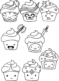 Small Picture Adventure Time Cupcake Coloring Pages Wecoloringpage