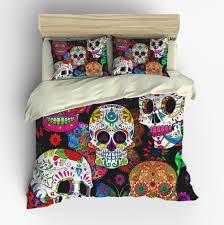 mexican sugar skull comforter set