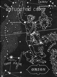 Southern Sky Star Chart Orion The Hunter Night Sky Star Chart Map Southern Stars
