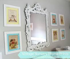 diy vintage nursery rhyme wall art rainonatinroof com diy vintage