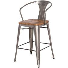 bar chairs with backs. Luxury Dining Room Plans: Amusing Clear Gun Metal Tolix Style Low Back Bar Stool TableBaseDepot Chairs With Backs S