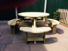 westwood round picnic table pt105