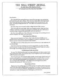 the copywriting example all copywriters should know example of excellent advertising copywriting by michael conroy for the wall street journal