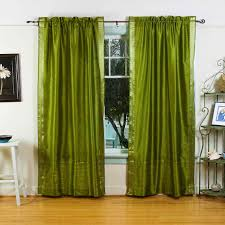 Small Picture Curtain Panels House Home Olive Green Inch Rod Pocket Sheer Sari