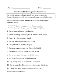 Worksheets for Teaching Adjectives | Homeshealth.info
