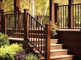 outdoor step railing ideas More